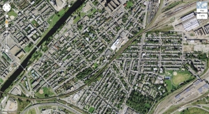 Note the proximity of homes to the rail yard.