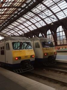 Brussels to Antwerp Train at Antwerpen Centraal, Belgium